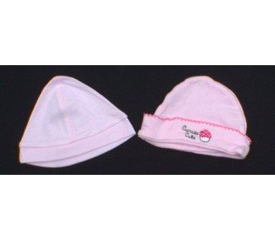 Dětská čepice, klobouček Cupcake set 2 kusu