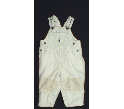 Dětské kalhoty zateplené s náprsenkou Baby -baby